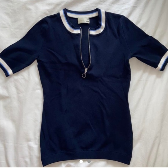 Navy blue quarter zip from Wilfred